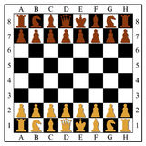 Chess board with chess pieces. Stock Image