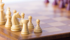 Chess board with chessmen Royalty Free Stock Photo