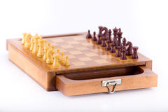 Chess board with chessmen Royalty Free Stock Images