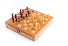 Chess board with chessmen Stock Image