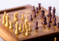 Chess board with chessmen Stock Photos