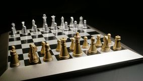 Chess board. Classic chess board close up footage stock video footage