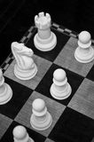 Chess Board Close Up. Black and White Close Up of the Corner of a Chess Board stock photography