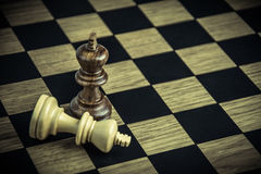 Chess on board , concept Losers and winners Royalty Free Stock Photos