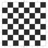Chess Board Design. With international specifications ready for printing. Can be download printed on vinyl or paper or canvas Royalty Free Stock Photos