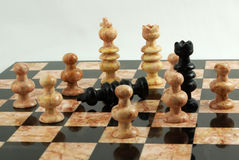Chess board Fallen King Royalty Free Stock Images