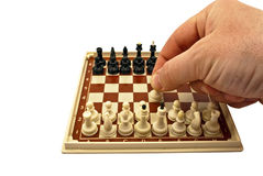 Chess-board with figures Stock Photography