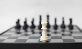 Chess board with figures Stock Images