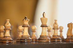Chess Board Figures Stock Photos