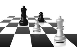 Chess Board With Figures Stock Image