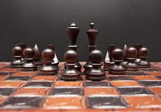 Chess board with figures. stock photos