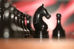 Chess board with figures. royalty free stock photo