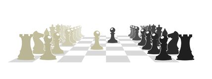 Chess board with figures  illustration. On the image presented Chess board with figures  illustration Royalty Free Stock Photos