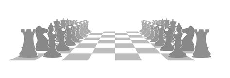 Chess board with figures  illustration. On the image presented Chess board with figures  illustration Stock Photography