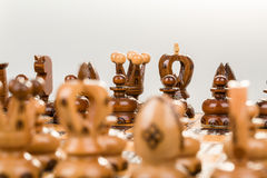 Chess board focus to black king and queen Stock Photo
