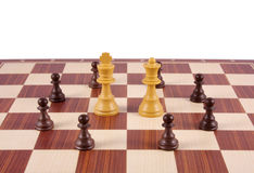 Chess board fragment Royalty Free Stock Photography