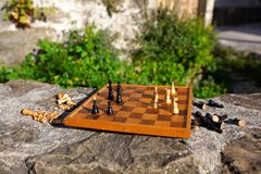 Chess board game Stock Image