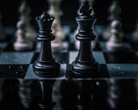 CHESS A BOARD GAME....BRAIN GAMES stock photo
