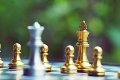 Chess board game, business competitive concept. Strategy concept stock photography