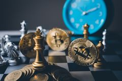 Chess board game of business ideas and competition and strategy royalty free stock photo