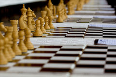Chess board game competition Royalty Free Stock Image