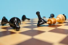 The chess board and game concept of business ideas and competition. Last chance. Chess board and game concept. Business ideas, competition, strategy and new Stock Images