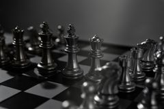 Chess board game concept of business team. And competition and strategy Royalty Free Stock Photography