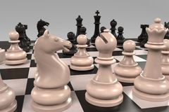 Chess board game Royalty Free Stock Photo