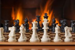 Chess, Board Game, Fireside Stock Photography