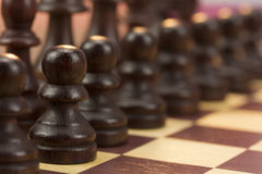 Chess board with game in play Stock Photography