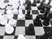 Chess board game strategy Royalty Free Stock Photos