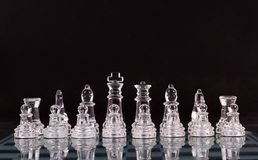 Glass Chess board Royalty Free Stock Image