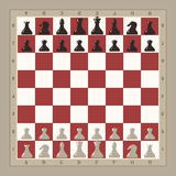 Chess board illustration Royalty Free Stock Image