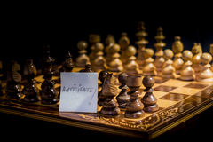 Chess board isolated Royalty Free Stock Photography
