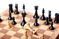 Chess board isolated on white background Stock Photography