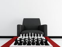 Chess board before a match Stock Images