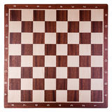 Chess board. Old wooden chess board photo Royalty Free Stock Photography