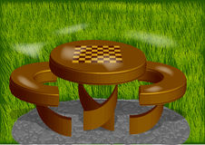 Chess board park Stock Photos