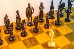Chess on the board. Royalty Free Stock Photos