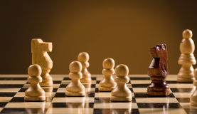 Chess board and pieces Royalty Free Stock Photography