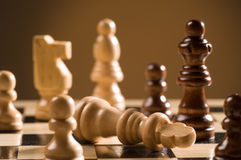Chess board and pieces Royalty Free Stock Image