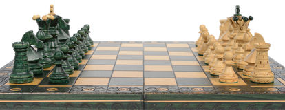 Chess board and pieces Stock Images