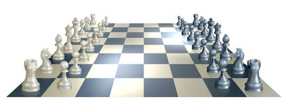 Chess board and pieces Stock Image