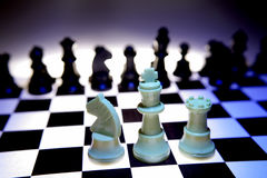 Chess board with pieces Stock Photography