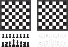 Chess board and pieces Stock Photos