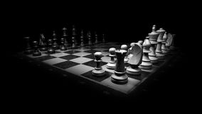 Chess board, Chess Pieces, Two Chess Teams, Black & white Stock Photography