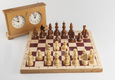 Chess board: Pirc Defence Stock Images