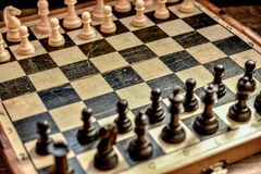 Chess board . play chess . Royalty Free Stock Photo