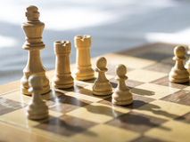 Chess board. Playing the game of chess Stock Image