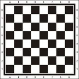 Chess Board - Print & Play. An indoor game of Chess Stock Illustration